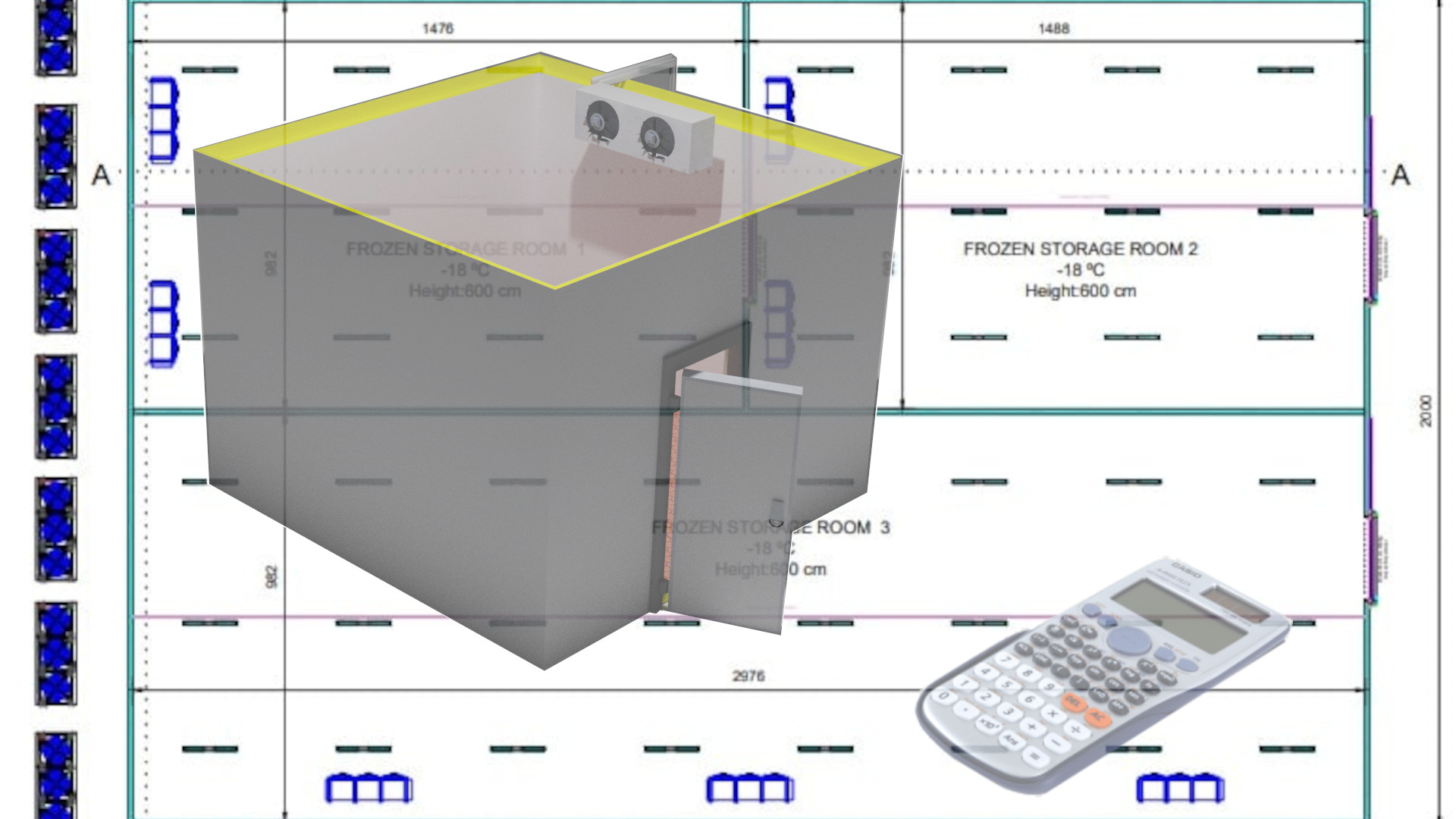 Heat Load Calculation For cold room